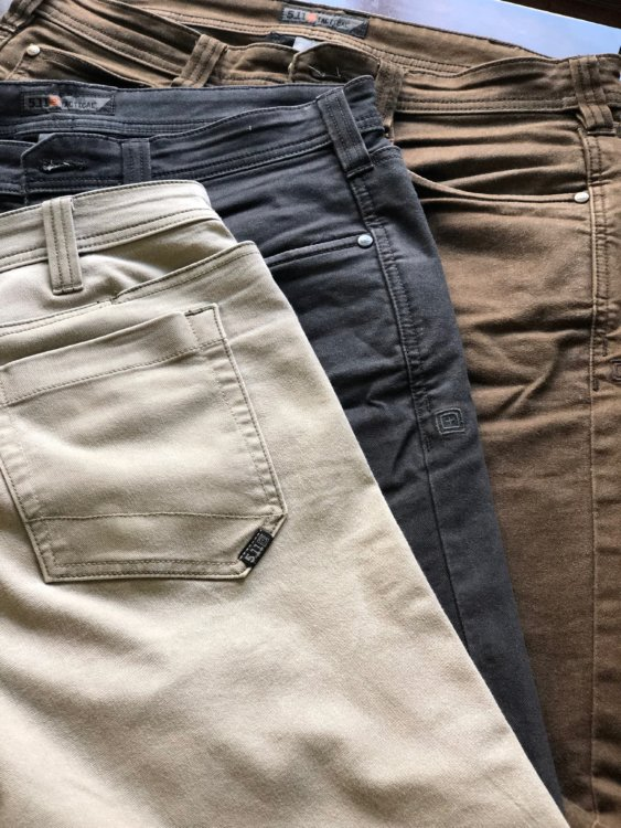 """5f693475130 From the 5.11 website  """"The Defender-Flex pant has been developed for 5.11  end users who are looking for low-vis tactical without sacrificing  performance at ..."""