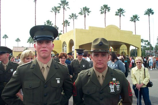 Nov 23 2001 MCRD San Diego Graduation. Father and Son