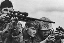 Marine Corps sniper team, Khe Sanh Valley 1968