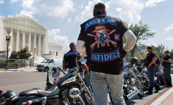 fidels motorcycle club participates in 2 Million Bikers DC rally, a counter-protest to the planned Million Muslim March in Washington DC on 9/11 in 2013. Photo Courtesy BareNakedIslam