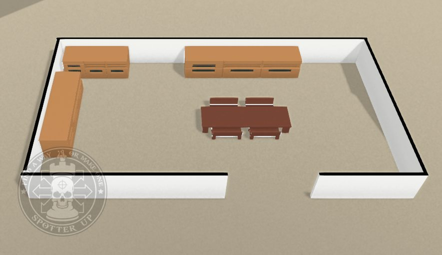 Above: Furniture causing visual obstruction and allowing concealment.
