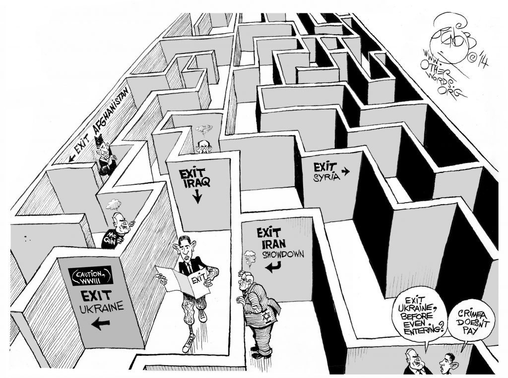 obama-no-exit-military-strategy-cartoon