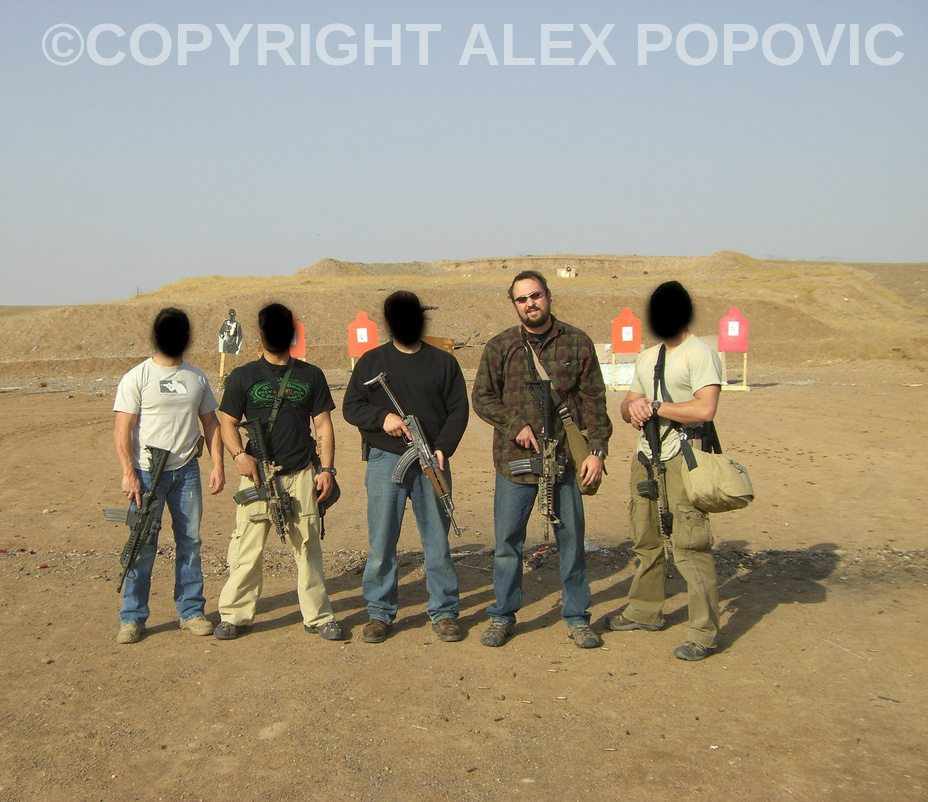 Pic of my team and I in Iraq courtesy of Alex Popovic