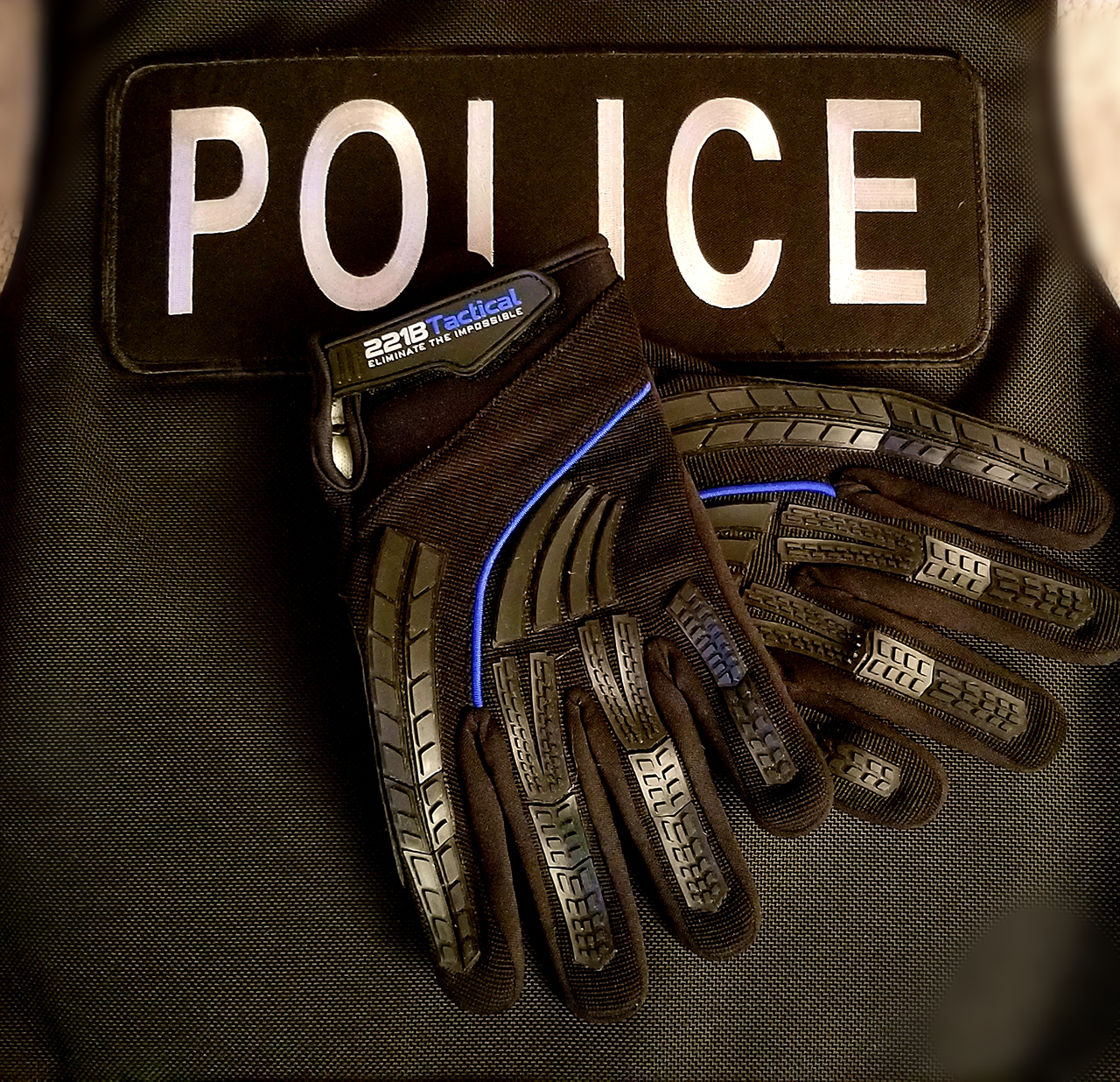 227e3b39c7f03 221B Tactical Guardian Glove – Thin Blue Line Edition • Spotter Up