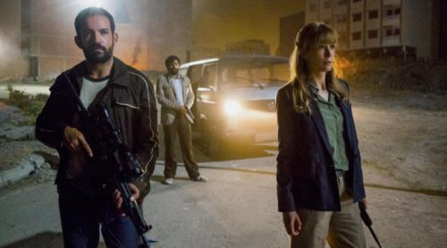 (right) Rosamund Pike stars as Sandy Crowder in director Brad Anderson's BEIRUT, a Bleecker Street release.