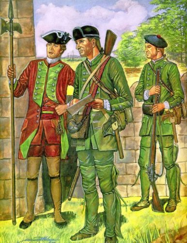 Painting of Rogers' Rangers